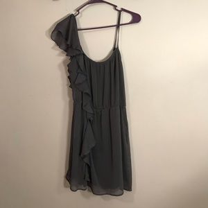Wet Seal Gray One Shoulder Dress